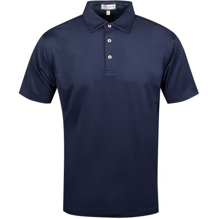 Golf undefined Camo Trim Solid Stretch Jersey Navy - AW19 made by Peter Millar