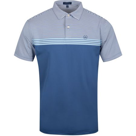 Polo Reinhardt Engineered Stripe Jersey Windsor Blue - AW19 Peter Millar Picture