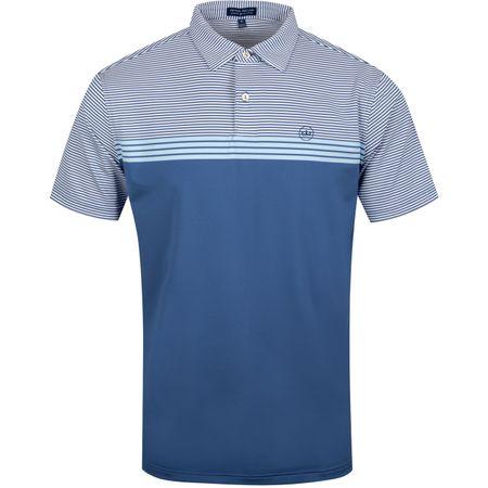 Golf undefined Reinhardt Engineered Stripe Jersey Windsor Blue - AW19 made by Peter Millar