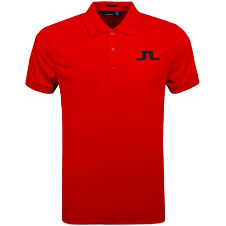 Golf undefined Big Bridge Regular TX Jersey Racing Red - AW19 made by J.Lindeberg