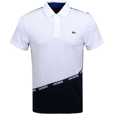 Golf undefined Ultra Dry Tape Colourblock Polo White/Navy - AW19 made by Lacoste