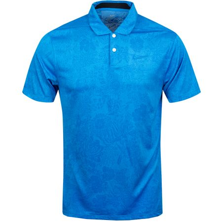 Polo Breathe Vapor Jacquard Print Polo Photo Blue/Battle Blue - AW19 Nike Golf Picture