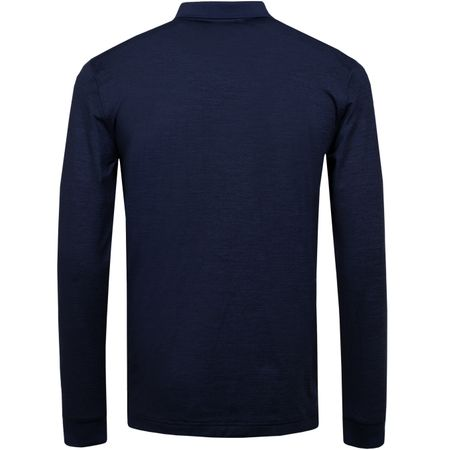 Golf undefined Big Bridge LS Regular TX Brushed Jersey Navy Melange - AW19 made by J.Lindeberg