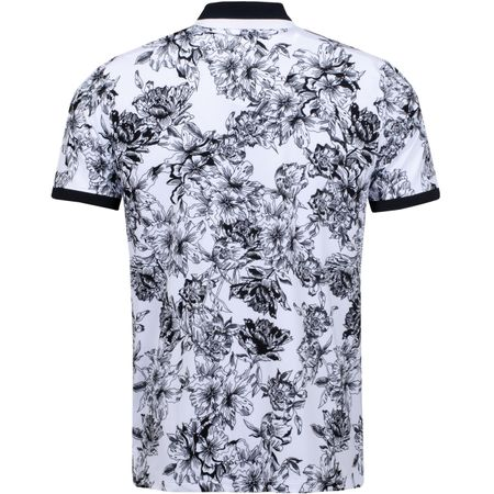 Golf undefined Floral Printed Polo Snow - AW19 made by G/FORE