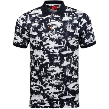 Polo Polo Toile Print Black - AW19 Nike Golf Picture