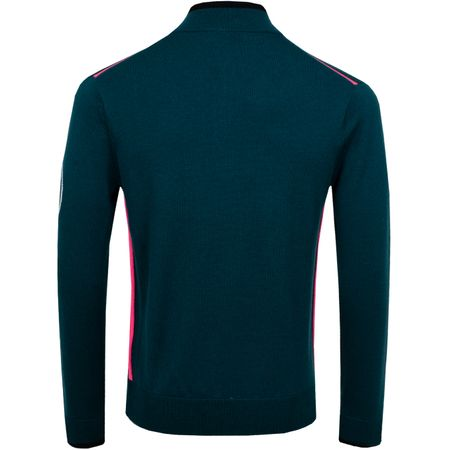 Golf undefined Tipped Quarter Zip Sweater Pine - AW19 made by G/FORE