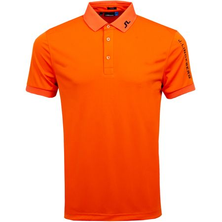 Golf undefined Tour Tech Slim TX Jersey Juicy Orange - AW19 made by J.Lindeberg