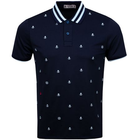 Golf undefined Skull & T's Embroidered Polo Twilight - AW19 made by G/FORE