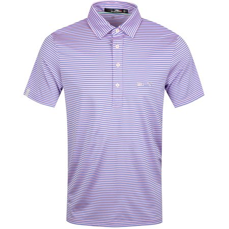Polo Feed Stripe Airflow Carmel Pink//Blue Mist - AW19 Polo Ralph Lauren Picture