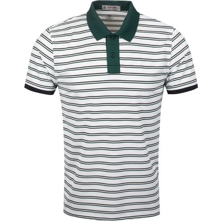 Golf undefined Perforated Skull Stripe Polo Pine/Onyx - AW19 made by G/FORE