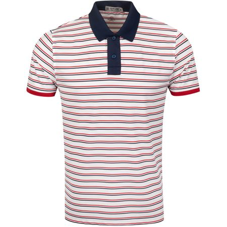 Polo Perforated Skull Stripe Polo Twilight/Garnet - AW19 G/FORE Picture