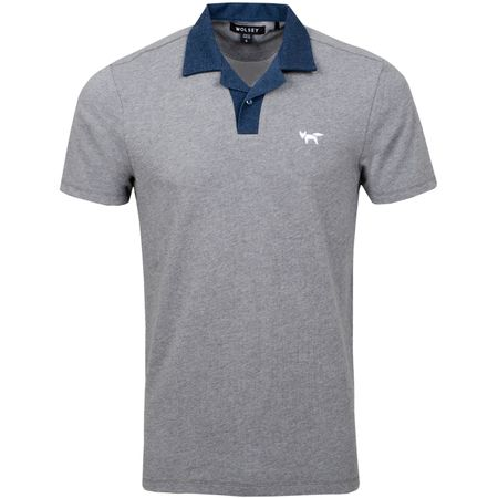 Golf undefined Johnny Collar Polo Grey Melange - SS19 made by Wolsey