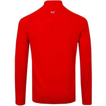Golf undefined Merino Quarter Zip Sweater Deep Mandarin - SS19 made by Wolsey