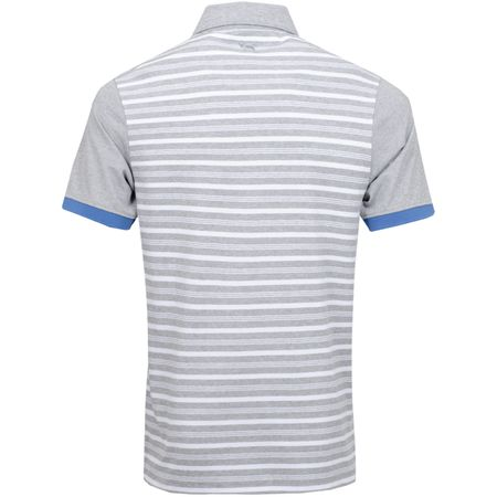Polo Stripe BD Polo White/Grey Melange - SS19 Wolsey Picture