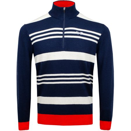 Golf undefined Macro Stripe Quarter Zip Total Eclipse - SS19 made by Wolsey