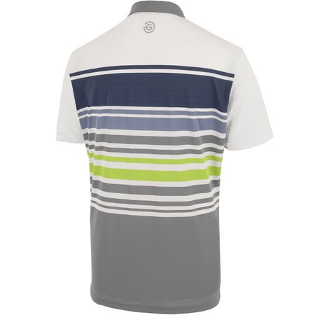Golf undefined Miguel Ventil8+ Polo White/Sharkskin/Navy - AW19 made by Galvin Green