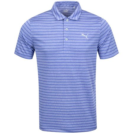 Golf undefined Rotation Stripe Polo Dazzling Blue - AW19 made by Puma Golf