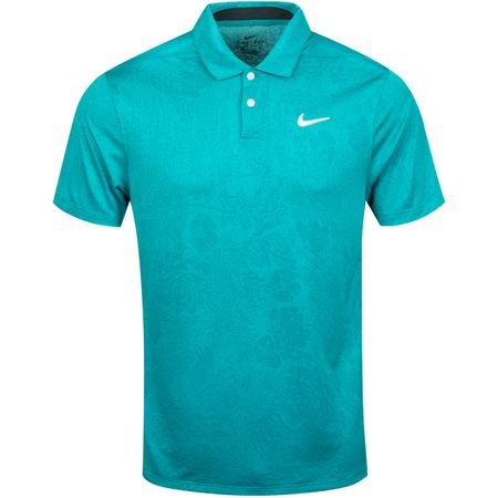 Golf undefined Breathe Vapor Jacquard Print Polo Cabana/Spirit Teal made by Nike Golf