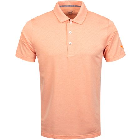 Golf undefined Field Polo Vibrant Orange Heather - AW19 made by Puma Golf
