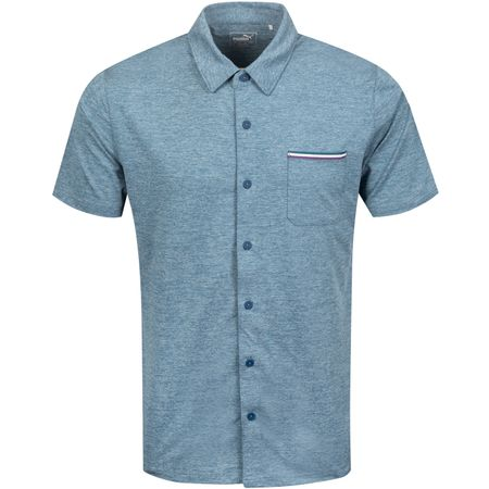 Polo Tradewinds Shirt Gibraltar Sea Heather - AW19 Puma Golf Picture