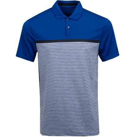 Polo TW Vapor Stripe Block Polo Gym Blue/Pure Platinum Nike Golf Picture