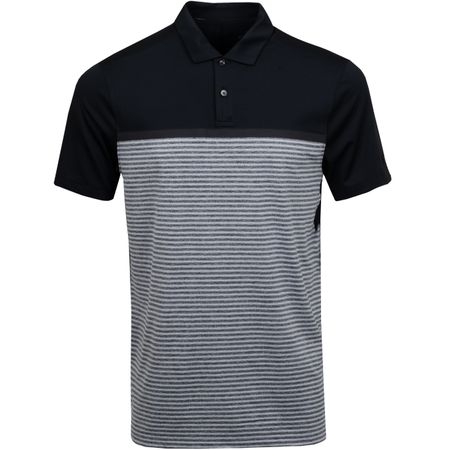 Golf undefined TW Vapor Stripe Block Polo Black made by Nike Golf