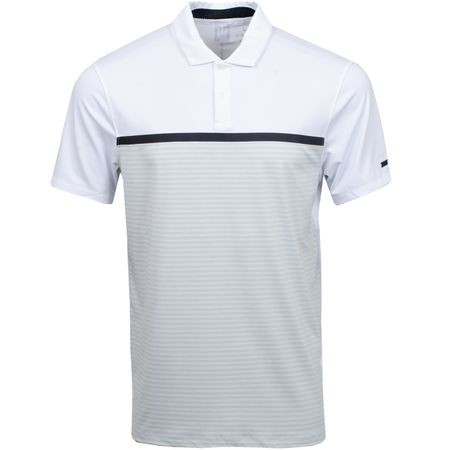 Golf undefined TW Vapor Stripe Block Polo White/Pure Platinum made by Nike Golf
