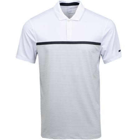 Polo TW Vapor Stripe Block Polo White/Pure Platinum Nike Golf Picture