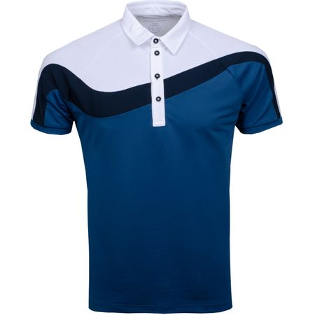 Golf undefined Magnum Ventil8+ Polo Ensign Blue/White/Navy - AW19 made by Galvin Green
