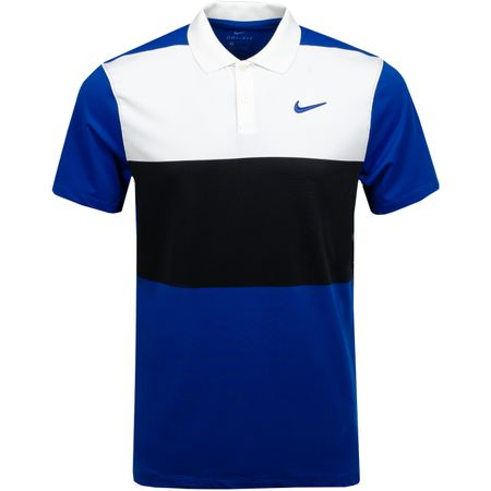 Golf undefined Dry Vapor Colourblock Polo Sail/Black/Indigo Force made by Nike Golf