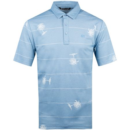 Polo Baumen Around Heather Parisian Blue TravisMathew Picture