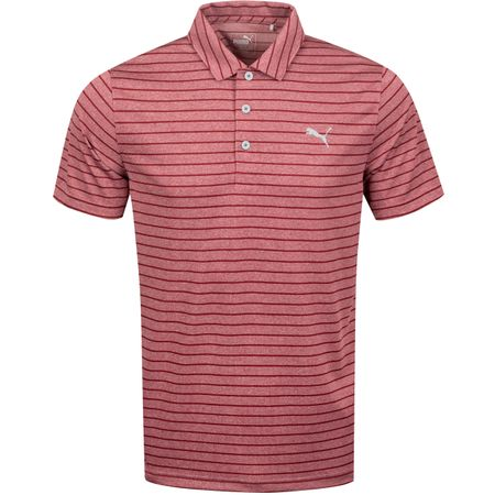 Polo Rotation Stripe Polo Rhubarb - AW19 Puma Golf Picture