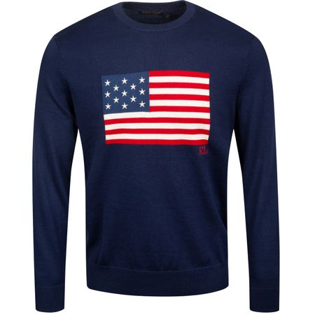 Golf undefined x Justin Thomas Thermocool Flag Sweater French Navy - AW19 made by Polo Ralph Lauren