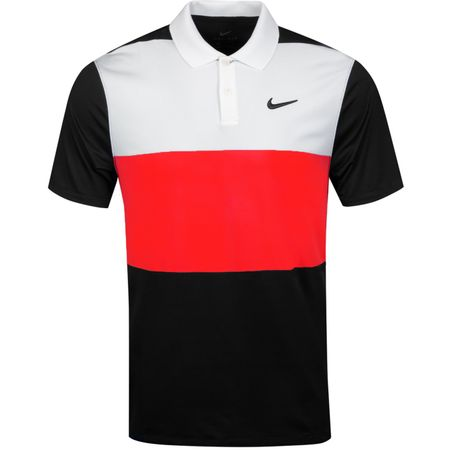 Golf undefined Dry Vapor Colourblock Polo Sail/Habanero Red/Black made by Nike Golf