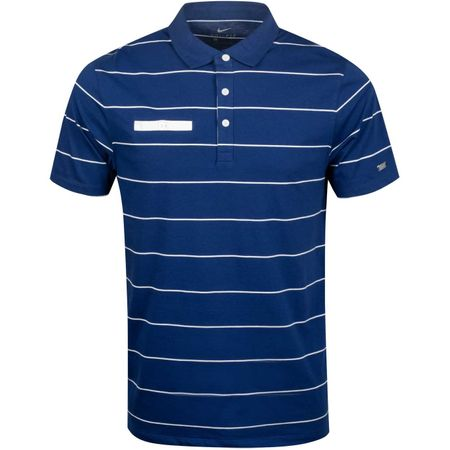 Polo Dry Player Polo Stripe Blue Void/Sail Nike Golf Picture