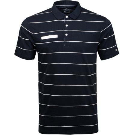 Golf undefined Dri-Fit Player Polo Stripe Black/Sail made by Nike Golf