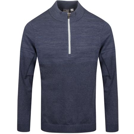 Golf undefined Evoknit Quarter Zip Sweater Peacoat Heather - AW19 made by Puma Golf
