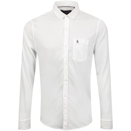 Polo Oxford Matte Button Down Bright White - AW18 Original Penguin Picture
