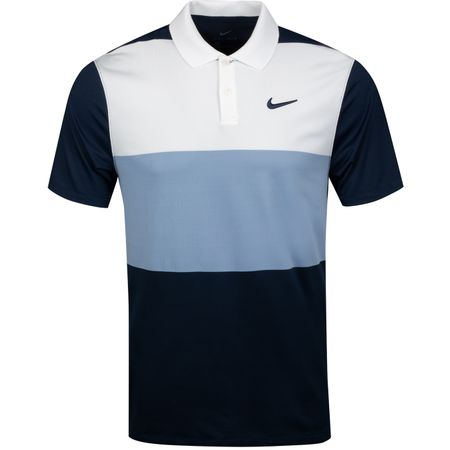 Polo Dry Vapor Colourblock Polo White/Indigo Fog - 2019 Nike Golf Picture