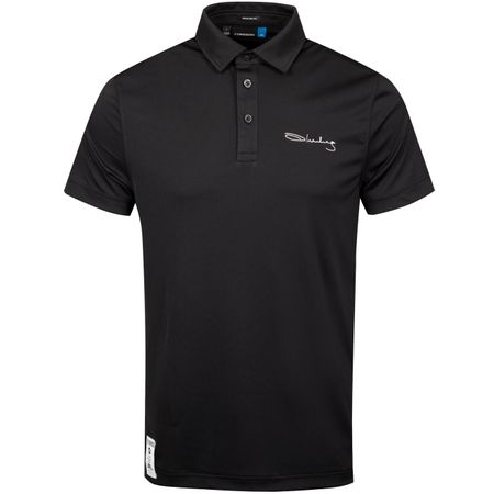 Golf undefined Iconic Signature KV Slim Jersey Black - SS19 made by J.Lindeberg