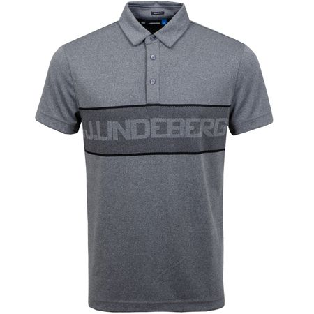 Polo Ade Regular Fit TX Jacquard Dark Grey Melange - SS19 J.Lindeberg Picture
