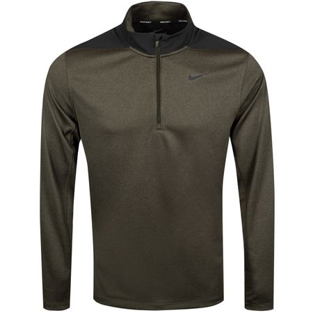 Golf undefined Core Half Zip Dry Top Sequoia/Cargo Khaki - SS19 made by Nike Golf