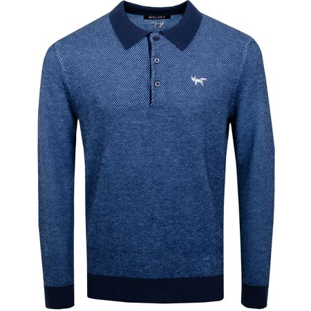 Polo Heathered Twist LS Polo Total Eclipse - SS19 Wolsey Picture