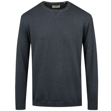 Hoodie Cashmere Blend Crew Neck Navy Heather - SS19 Linksoul Picture