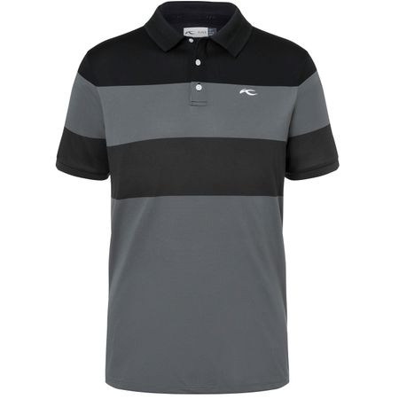 Golf undefined Luan Colourblock Polo Steel Grey/Black - SS19 made by Kjus