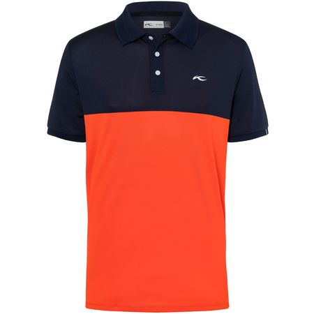 Golf undefined Luan Colourblock Polo Atlanta Blue/Blood Orange - SS19 made by Kjus