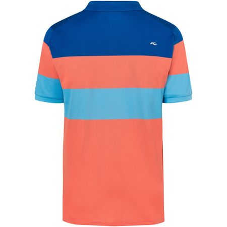 Golf undefined Luan Colourblock Polo Intensive Peach/Pacific Blue - SS19 made by Kjus