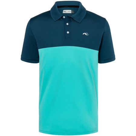 Golf undefined Luan Colourblock Polo Deep Dive/Blue Turquoise - SS19 made by Kjus