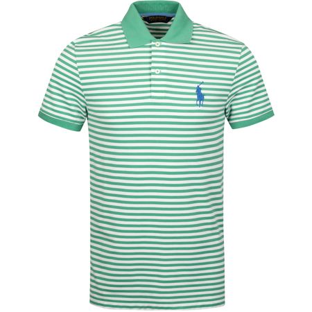 Polo Stripe Performance Pique Raft Green/White - SS19 Polo Ralph Lauren Picture