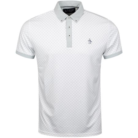 Polo Checkerboard Pete Polo Pearl Blue - SS19 Original Penguin Picture